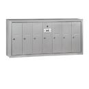 Salsbury Industries 3507ASU Vertical Mailbox - 7 Doors - Aluminum - Surface Mounted - USPS Access