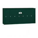 Salsbury Industries 3507GSP Vertical Mailbox (Includes Master Commercial Lock) - 7 Doors - Green - Surface Mounted - Private Access