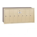 Salsbury Industries 3507SRP Vertical Mailbox (Includes Master Commercial Lock) - 7 Doors - Sandstone - Recessed Mounted - Private Access