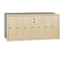 Salsbury Industries 3507SRU Vertical Mailbox - 7 Doors - Sandstone - Recessed Mounted - USPS Access
