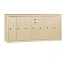 Salsbury Industries 3507SSP Vertical Mailbox (Includes Master Commercial Lock) - 7 Doors - Sandstone - Surface Mounted - Private Access