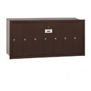 Salsbury Industries 3507ZRP Vertical Mailbox (Includes Master Commercial Lock) - 7 Doors - Bronze - Recessed Mounted - Private Access