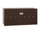 Salsbury Industries 3507ZRU Vertical Mailbox - 7 Doors - Bronze - Recessed Mounted - USPS Access