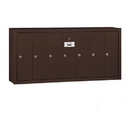 Salsbury Industries 3507ZSP Vertical Mailbox (Includes Master Commercial Lock) - 7 Doors - Bronze - Surface Mounted - Private Access