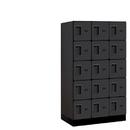 Salsbury Industries 35351BLK Designer Wood Locker - Five Tier Box Style - 3 Wide - 5 Feet High - 21 Inches Deep - Black