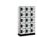 Salsbury Industries 35355GRY Designer Wood Locker - Five Tier Box Style - 3 Wide - 5 Feet High - 15 Inches Deep - Gray