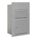 Salsbury Industries 3600C5-AFP Collection Unit (Includes Master Commercial Lock) - for 5 Door High 4B+ Mailbox Units - Aluminum - Front Loading - Private Access