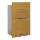 Salsbury Industries 3600C5-GFP Collection Unit (Includes Master Commercial Lock) - for 5 Door High 4B+ Mailbox Units - Gold - Front Loading - Private Access