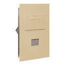 Salsbury Industries 3600C5-SRP Collection Unit - for 5 Door High 4B+ Mailbox Units - Sandstone - Rear Loading - Private Access