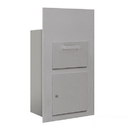 Salsbury Industries 3600C6-AFP Collection Unit (Includes Master Commercial Lock) - for 6 Door High 4B+ Mailbox Units - Aluminum - Front Loading - Private Access