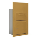 Salsbury Industries 3600C6-GFP Collection Unit (Includes Master Commercial Lock) - for 6 Door High 4B+ Mailbox Units - Gold - Front Loading - Private Access