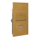 Salsbury Industries 3600C6-GRP Collection Unit - for 6 Door High 4B+ Mailbox Units - Gold - Rear Loading - Private Access
