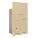 Salsbury Industries 3600C6-SFU Collection Unit - for 6 Door High 4B+ Mailbox Units - Sandstone - Front Loading - USPS Access