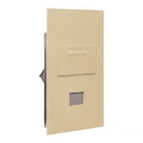 Salsbury Industries 3600C6-SRP Collection Unit - for 6 Door High 4B+ Mailbox Units - Sandstone - Rear Loading - Private Access