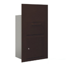 Salsbury Industries 3600C6-ZFP Collection Unit (Includes Master Commercial Lock) - for 6 Door High 4B+ Mailbox Units - Bronze - Front Loading - Private Access