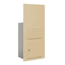 Salsbury Industries 3600C7-SFP Collection Unit (Includes Master Commercial Lock) - for 7 Door High 4B+ Mailbox Units - Sandstone - Front Loading - Private Access