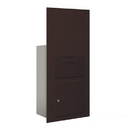 Salsbury Industries 3600C7-ZFP Collection Unit (Includes Master Commercial Lock) - for 7 Door High 4B+ Mailbox Units - Bronze - Front Loading - Private Access