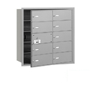 Salsbury Industries 3610AFP 4B+ Horizontal Mailbox (Includes Master Commercial Lock) - 10 B Doors (9 usable) - Aluminum - Front Loading - Private Access