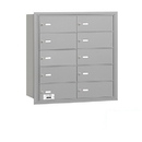Salsbury Industries 3610ARP 4B+ Horizontal Mailbox - 10 B Doors - Aluminum - Rear Loading - Private Access