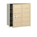 Salsbury Industries 3610SFU 4B+ Horizontal Mailbox - 10 B Doors (9 usable) - Sandstone - Front Loading - USPS Access