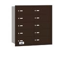 Salsbury Industries 3610ZRU 4B+ Horizontal Mailbox - 10 B Doors - Bronze - Rear Loading - USPS Access
