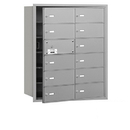 Salsbury Industries 3612AFU 4B+ Horizontal Mailbox - 12 B Doors (11 usable) - Aluminum - Front Loading - USPS Access
