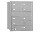 Salsbury Industries 3612ARU 4B+ Horizontal Mailbox - 12 B Doors - Aluminum - Rear Loading - USPS Access