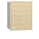 Salsbury Industries 3612SRU 4B+ Horizontal Mailbox - 12 B Doors - Sandstone - Rear Loading - USPS Access