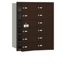 Salsbury Industries 3612ZFU 4B+ Horizontal Mailbox - 12 B Doors (11 usable) - Bronze - Front Loading - USPS Access