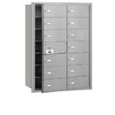 Salsbury Industries 3614AFU 4B+ Horizontal Mailbox - 14 B Doors (13 usable) - Aluminum - Front Loading - USPS Access