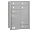 Salsbury Industries 3614ARP 4B+ Horizontal Mailbox - 14 B Doors - Aluminum - Rear Loading - Private Access
