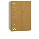 Salsbury Industries 3614GRP 4B+ Horizontal Mailbox - 14 B Doors - Gold - Rear Loading - Private Access