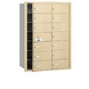 Salsbury Industries 3614SFU 4B+ Horizontal Mailbox - 14 B Doors (13 usable) - Sandstone - Front Loading - USPS Access