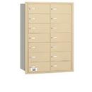 Salsbury Industries 3614SRU 4B+ Horizontal Mailbox - 14 B Doors - Sandstone - Rear Loading - USPS Access