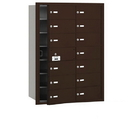 Salsbury Industries 3614ZFU 4B+ Horizontal Mailbox - 14 B Doors (13 usable) - Bronze - Front Loading - USPS Access