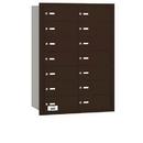 Salsbury Industries 3614ZRU 4B+ Horizontal Mailbox - 14 B Doors - Bronze - Rear Loading - USPS Access