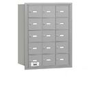 Salsbury Industries 3615ARP 4B+ Horizontal Mailbox - 15 A Doors - Aluminum - Rear Loading - Private Access