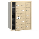 Salsbury Industries 3615SFU 4B+ Horizontal Mailbox - 15 A Doors (14 usable) - Sandstone - Front Loading - USPS Access
