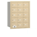 Salsbury Industries 3615SRP 4B+ Horizontal Mailbox - 15 A Doors - Sandstone - Rear Loading - Private Access