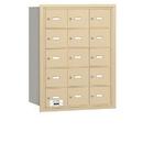 Salsbury Industries 3615SRU 4B+ Horizontal Mailbox - 15 A Doors - Sandstone - Rear Loading - USPS Access