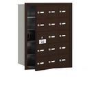 Salsbury Industries 3615ZFP 4B+ Horizontal Mailbox (Includes Master Commercial Lock) - 15 A Doors (14 usable) - Bronze - Front Loading - Private Access
