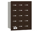 Salsbury Industries 3615ZRU 4B+ Horizontal Mailbox - 15 A Doors - Bronze - Rear Loading - USPS Access