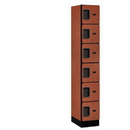 Salsbury Industries 36168CHE Designer Wood Locker - Six Tier Box Style - 1 Wide - 6 Feet High - 18 Inches Deep - Cherry