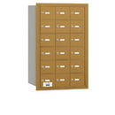 Salsbury Industries 3618GRU 4B+ Horizontal Mailbox - 18 A Doors - Gold - Rear Loading - USPS Access