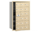 Salsbury Industries 3618SFU 4B+ Horizontal Mailbox - 18 A Doors (17 usable) - Sandstone - Front Loading - USPS Access