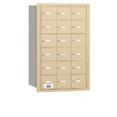 Salsbury Industries 3618SRP 4B+ Horizontal Mailbox - 18 A Doors - Sandstone - Rear Loading - Private Access