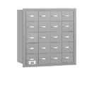 Salsbury Industries 3620ARU 4B+ Horizontal Mailbox - 20 A Doors - Aluminum - Rear Loading - USPS Access
