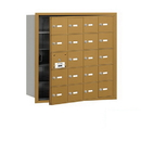 Salsbury Industries 3620GFP 4B+ Horizontal Mailbox (Includes Master Commercial Lock) - 20 A Doors (19 usable) - Gold - Front Loading - Private Access