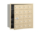 Salsbury Industries 3620SFU 4B+ Horizontal Mailbox - 20 A Doors (19 usable) - Sandstone - Front Loading - USPS Access