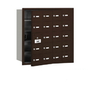 Salsbury Industries 3620ZFU 4B+ Horizontal Mailbox - 20 A Doors (19 usable) - Bronze - Front Loading - USPS Access
